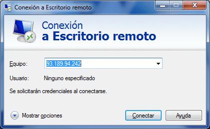 conexion escritorio remoto